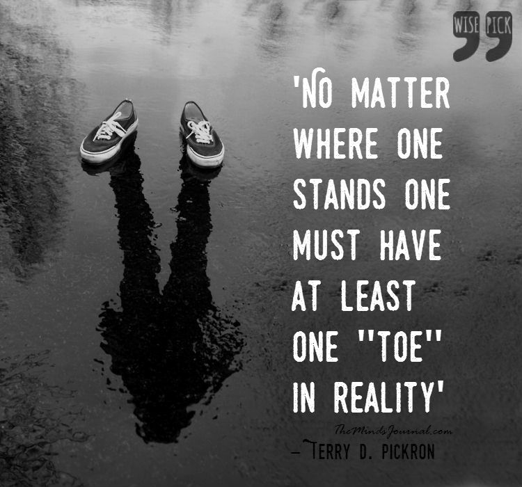 One Toe in Reality