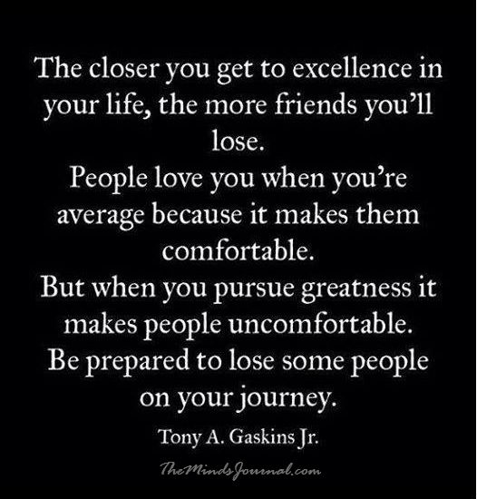 The closer you get to excellence