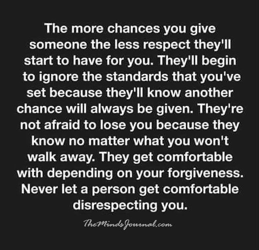 The more chances you give someone