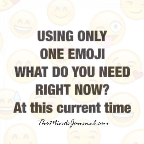 Using only One Emoji