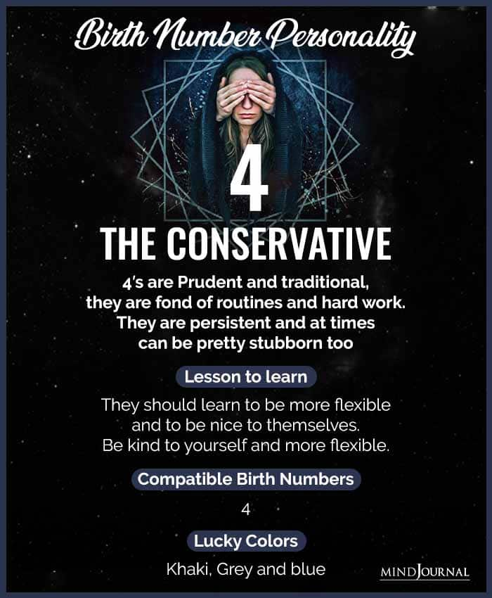 Birth Number 4 THE CONSERVATIVE