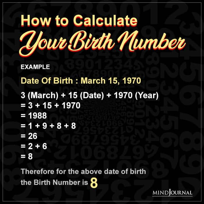 How to Calculate Your Birth Number