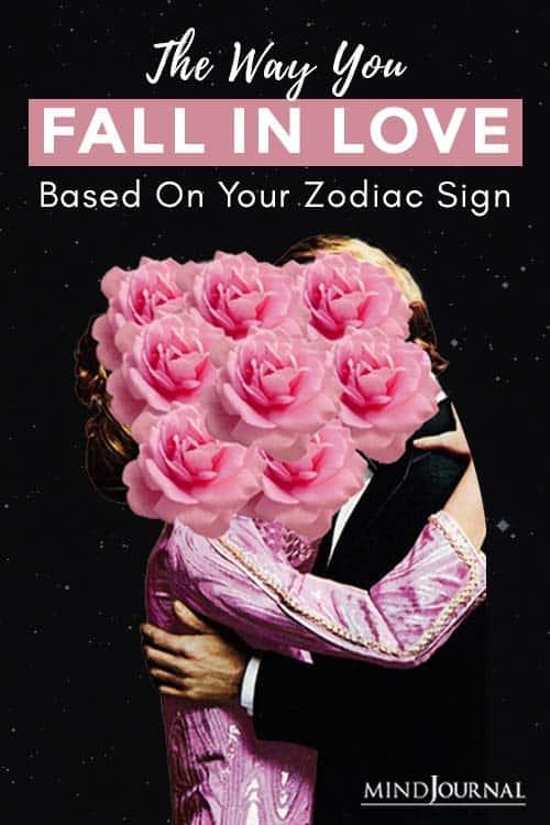 Way You Fall In Love Zodiac Pin
