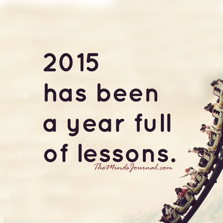 A year full of lessons