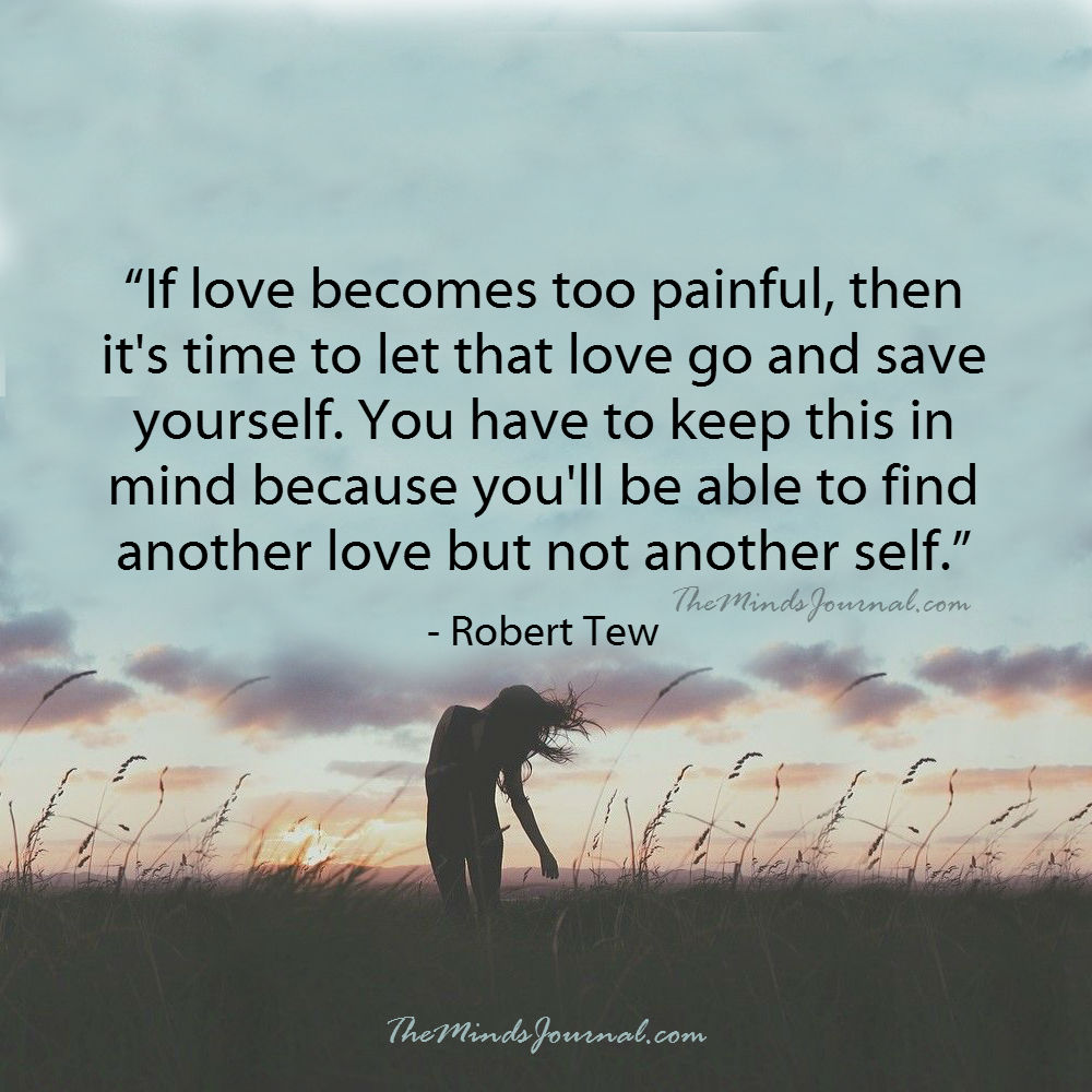 If love becomes too painful