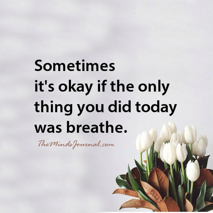 Just to breathe