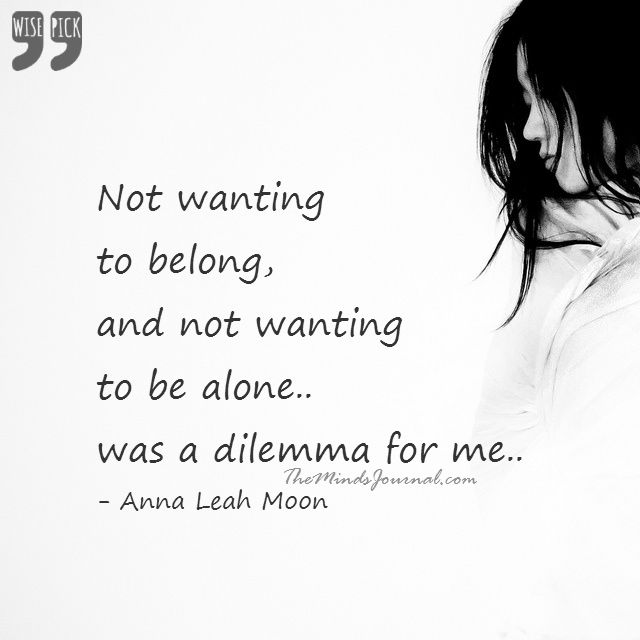 Not wanting to belong