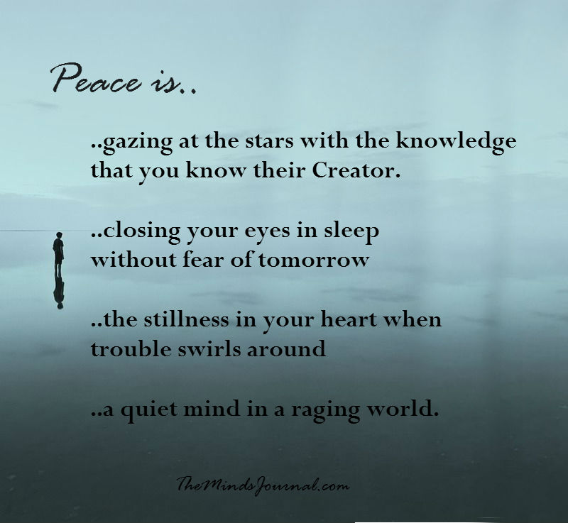 Peace is..