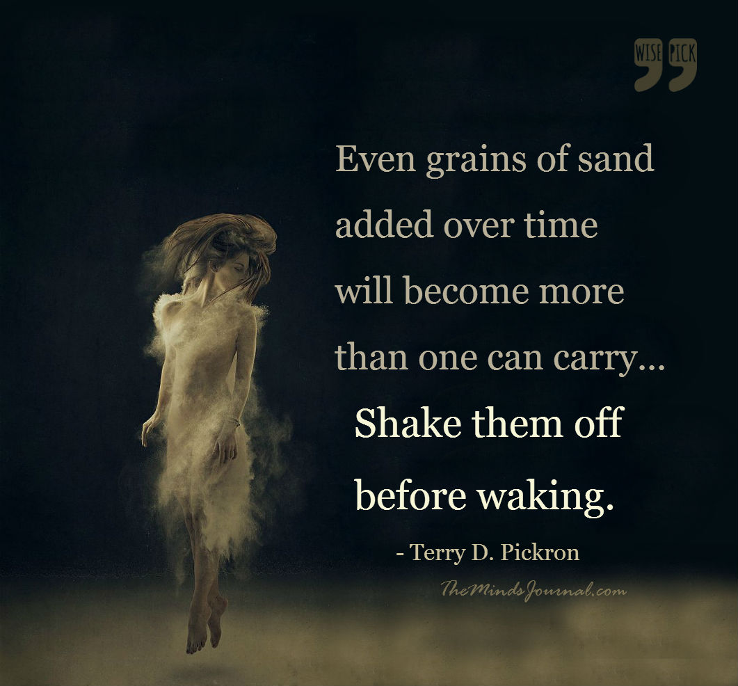 Shake them off before waking