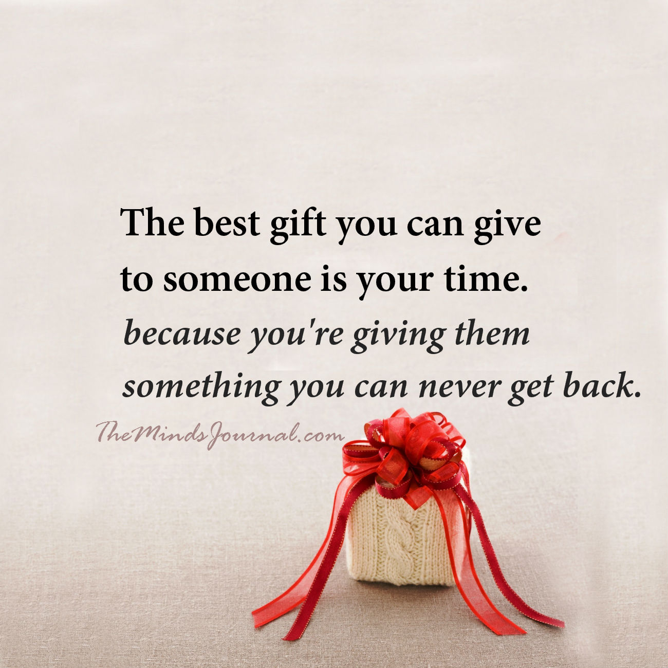 The best gift you can give someone