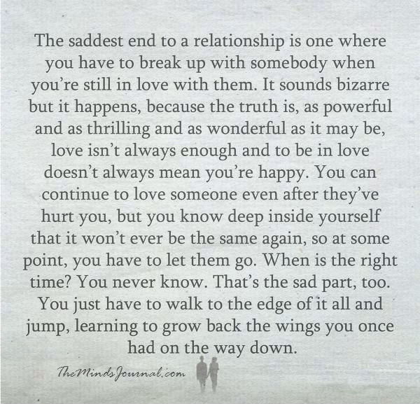 The saddest end to a relationship