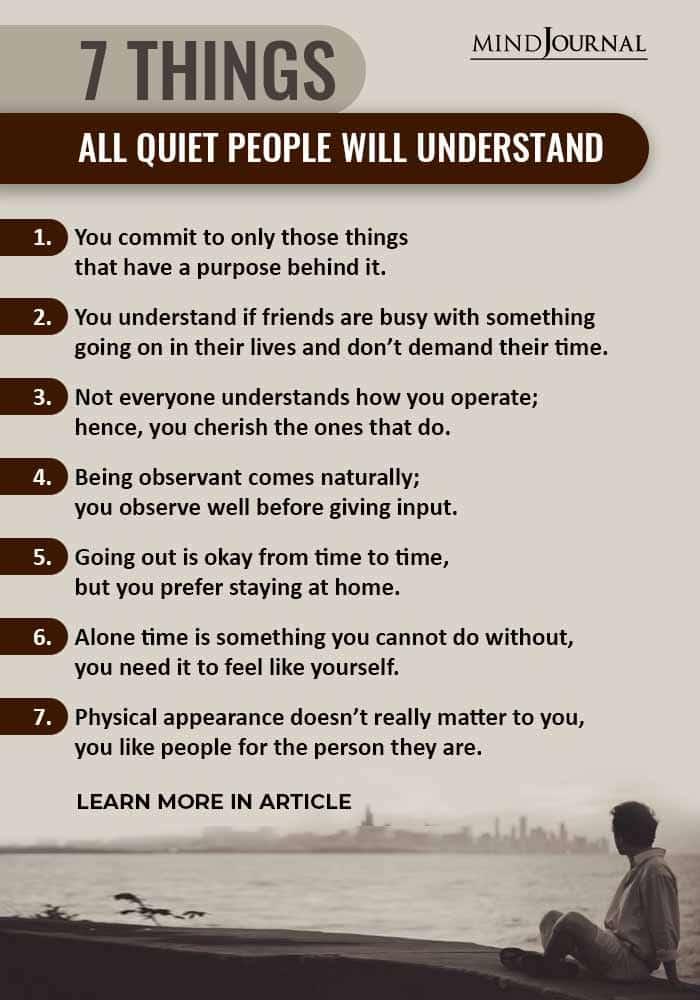 Things Quiet People Understand