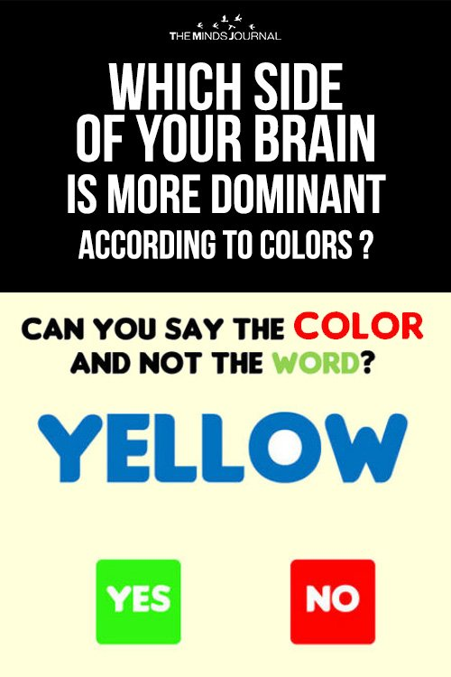 Which side of your brain is more dominant according to colors ? - MIND GAME