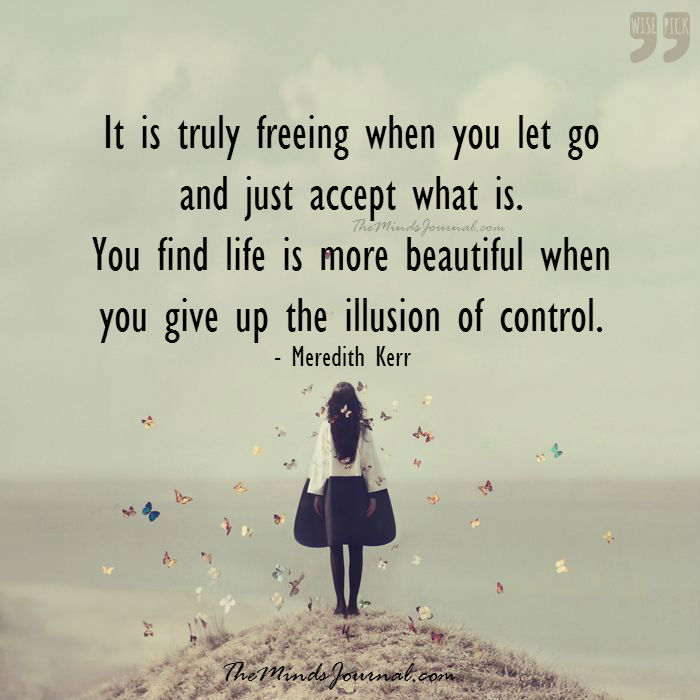 It's truly freeing when you let go