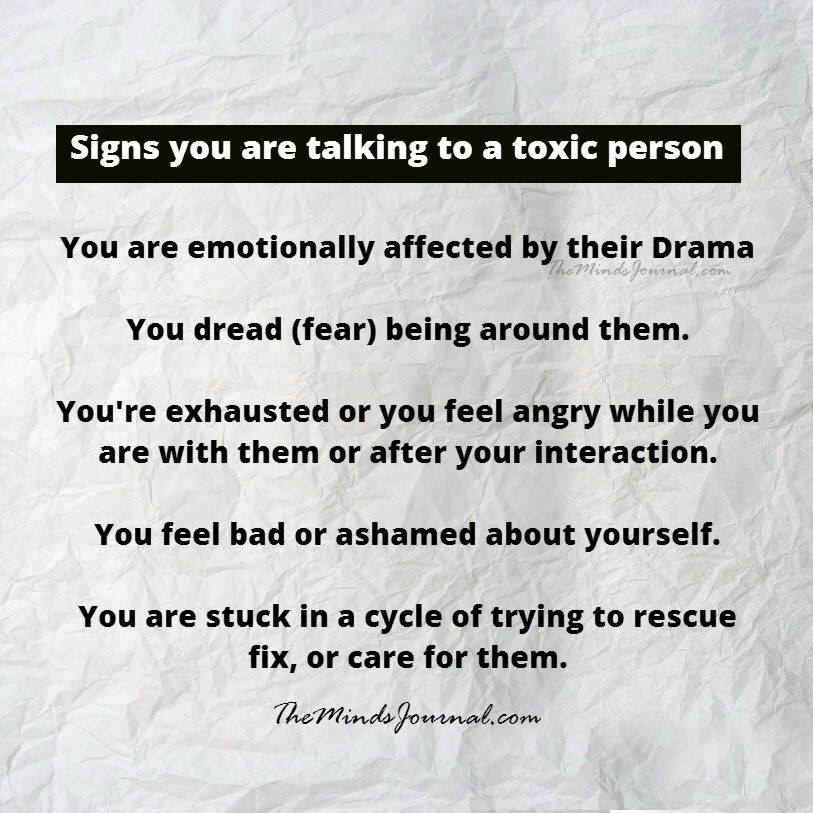 Signs you are talking to a toxic person