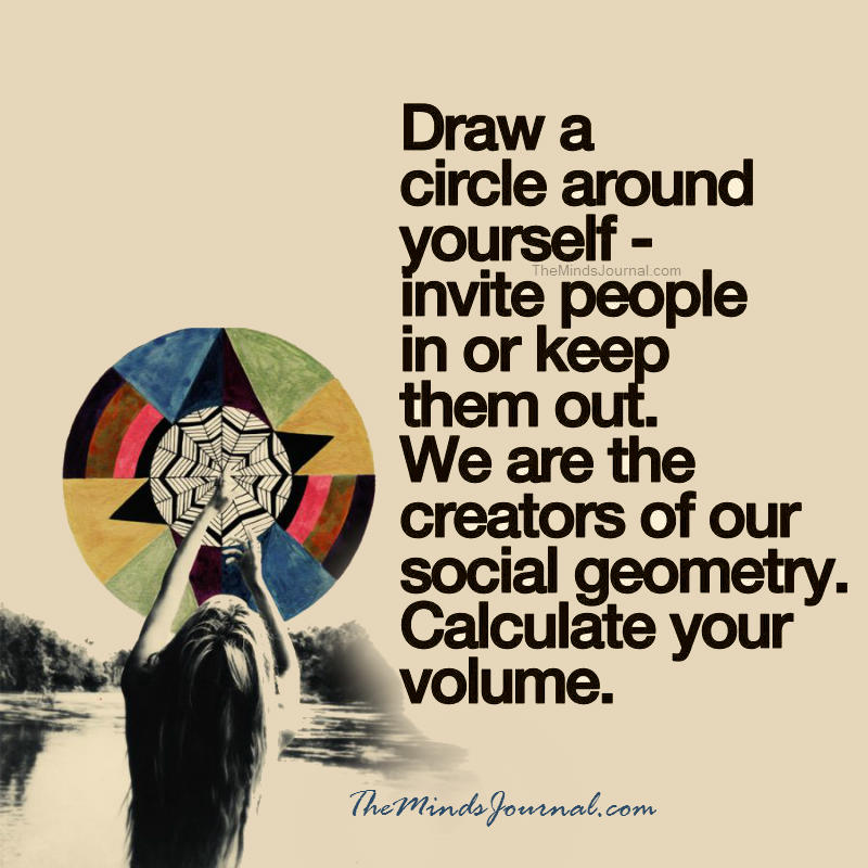 We are creators of our social Geometry