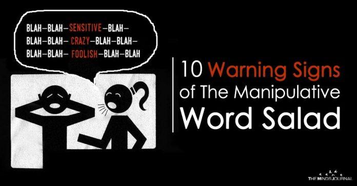 10 Warning Signs of the Manipulative Word Salad
