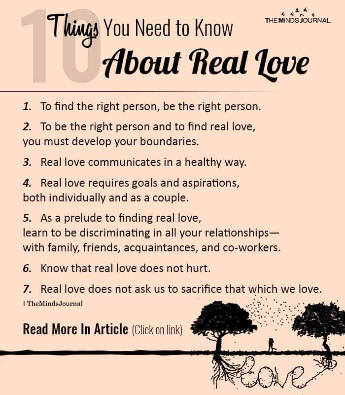 Things Know About Real Love