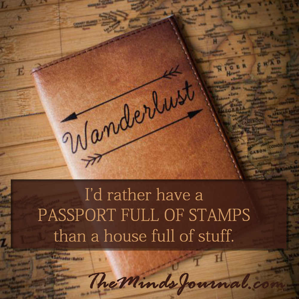 A passport full of stamps