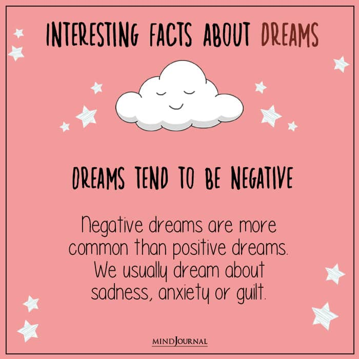 dreams tend to be negative