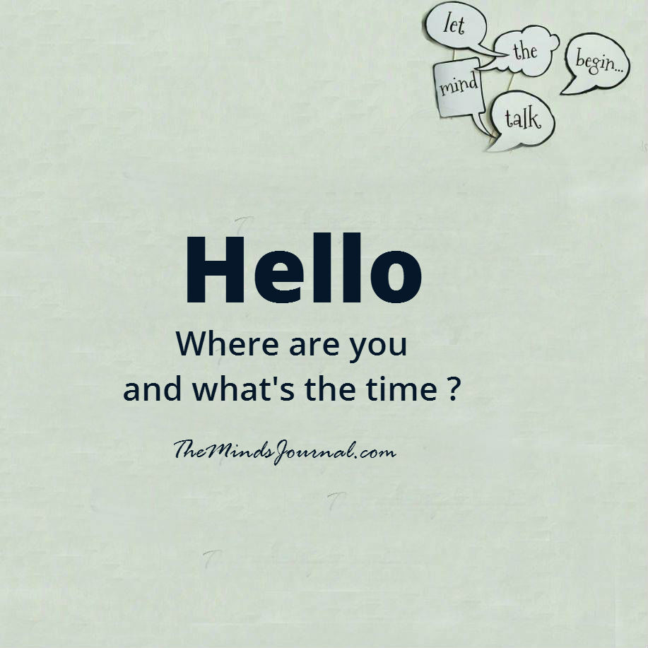 Hello, where are you and what's the time ?