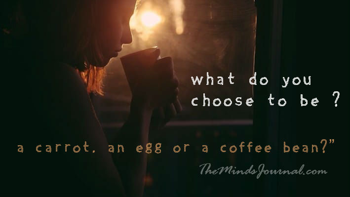 How do you handle adversity? Are you a carrot, an egg or a coffee bean? – A wise tale for anyone that's ever been cheated on.