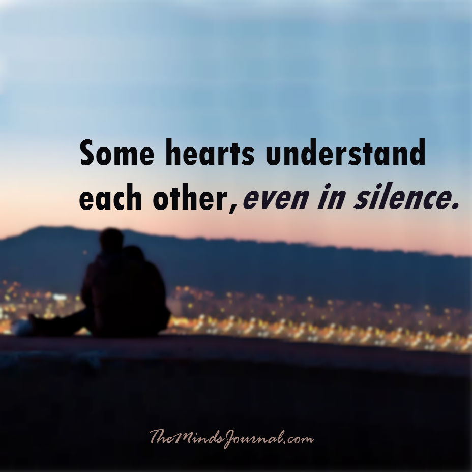 Some hearts understand each other