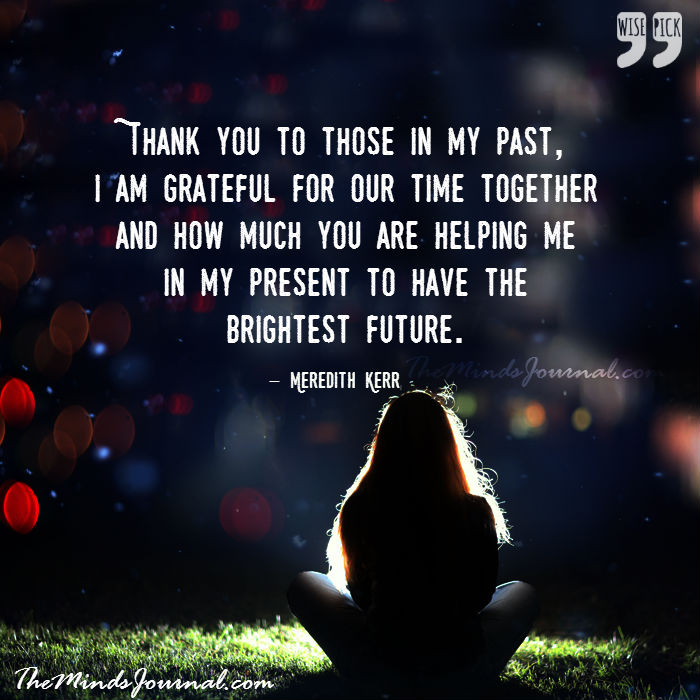 Thank you to those in my past