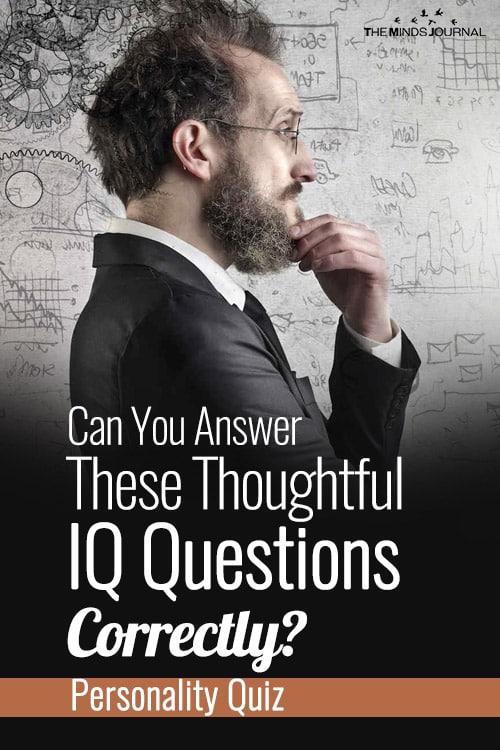thoughtful iq questions