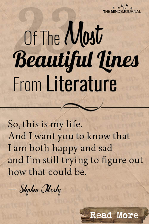 Most Beautiful Lines From Literature pin