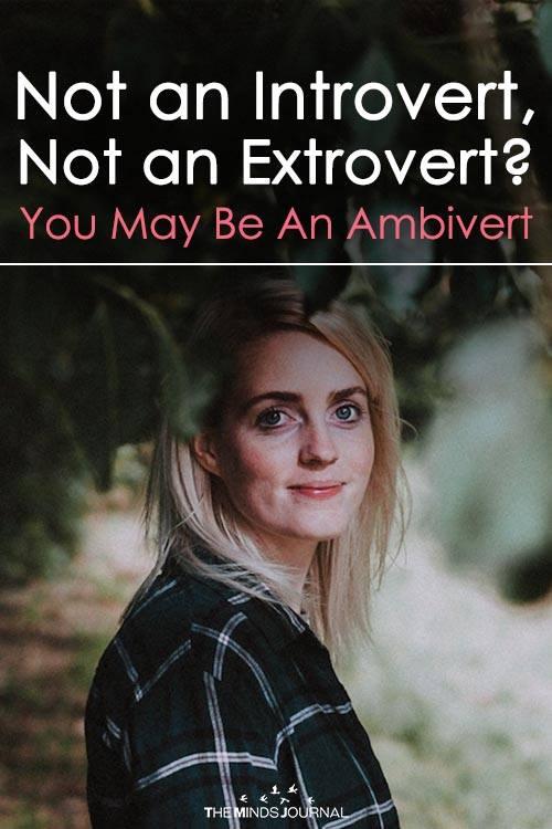 Not an Introvert, Not an Extrovert You May Be An Ambivert