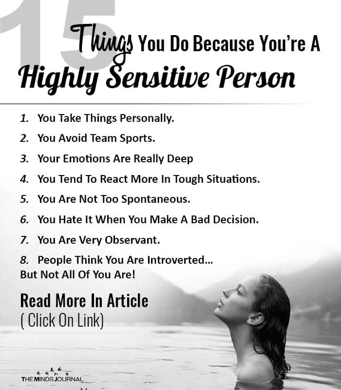 Things You Do Highly Sensitive Person