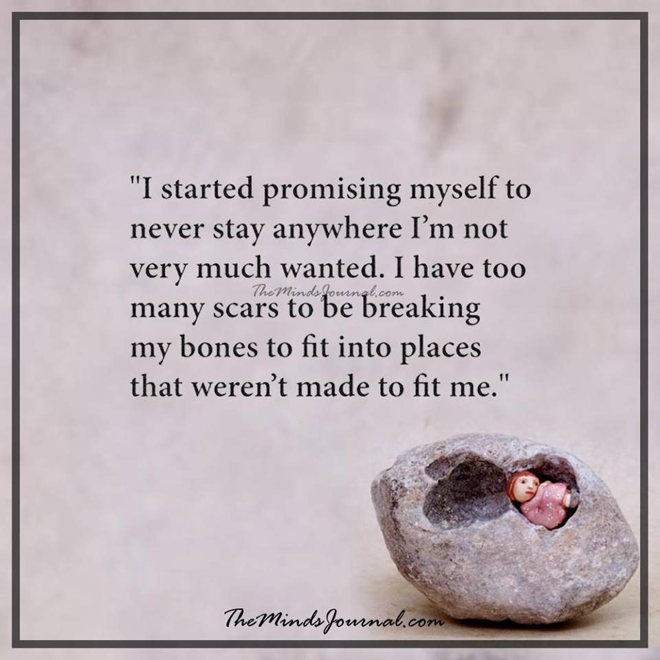 I started promising myself to never stay anywhere