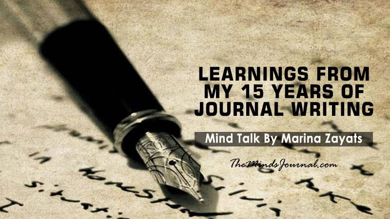 LEARNINGS FROM MY 15 YEARS OF JOURNAL WRITING – Mind Talk