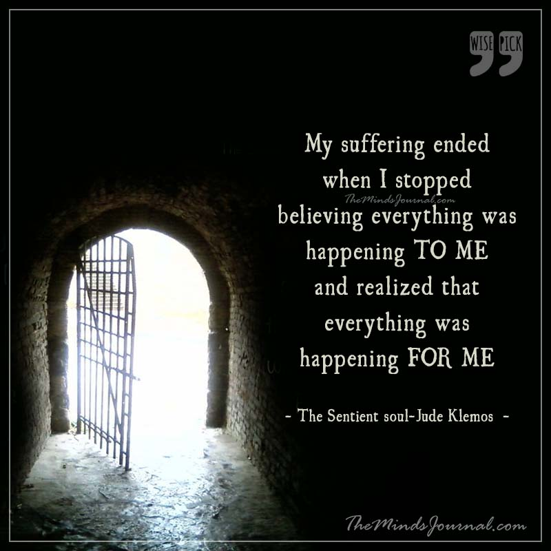 My suffering ended when I stopped believing
