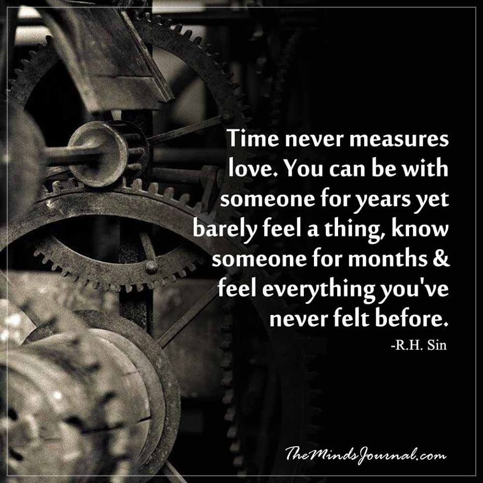 Time never measures love