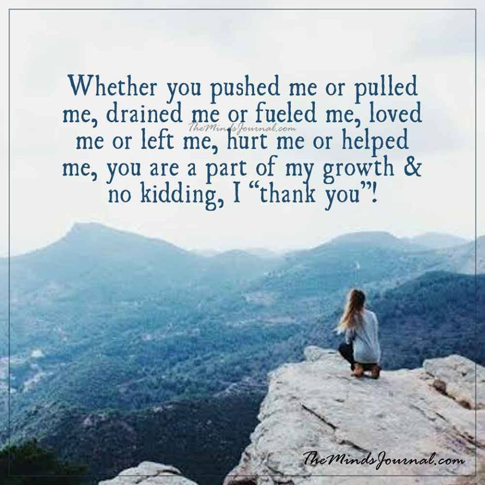 Whether you pushed me or pulled me
