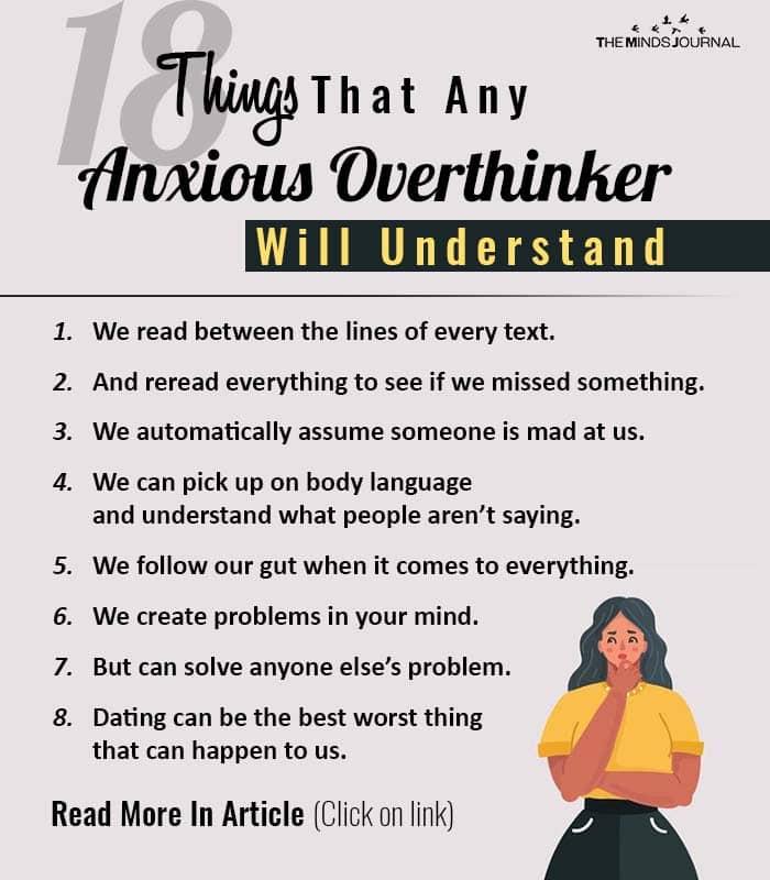Things Anxious Overthinker Understand