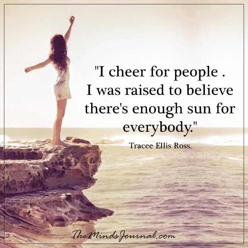 I cheer for people