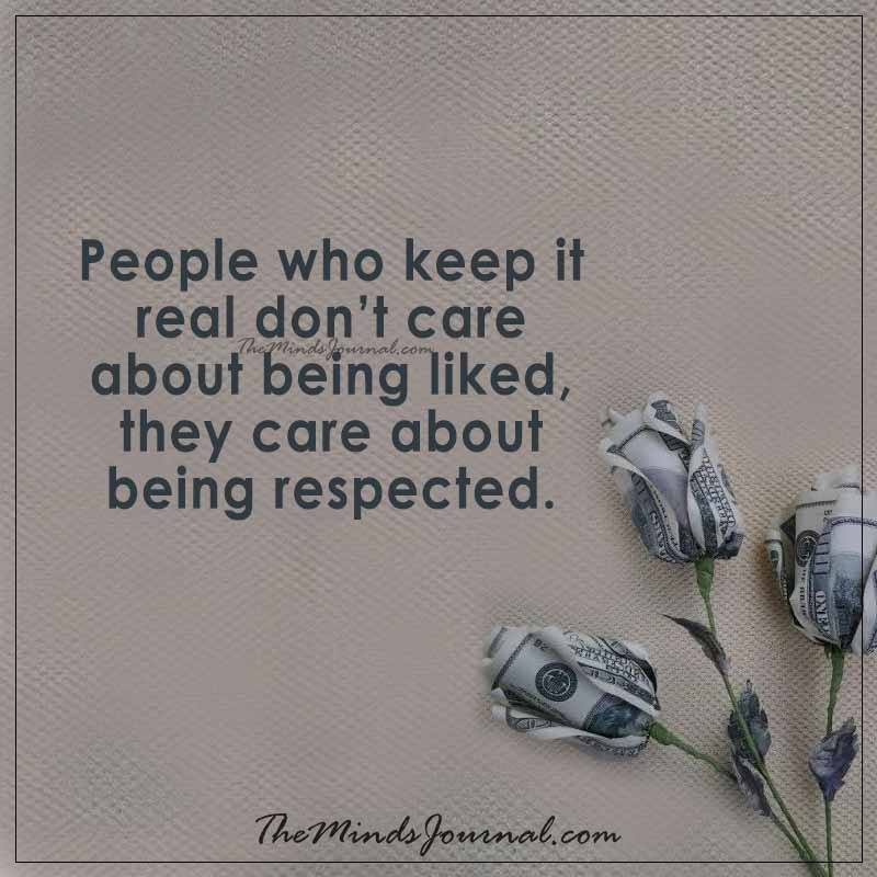 People who keep it real