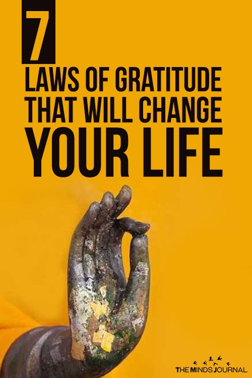 7 Laws of Gratitude That Will Change Your Life pin