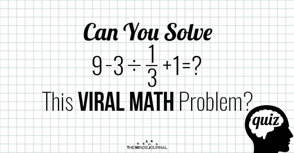 Can You Solve This Viral Math Problem? Quiz