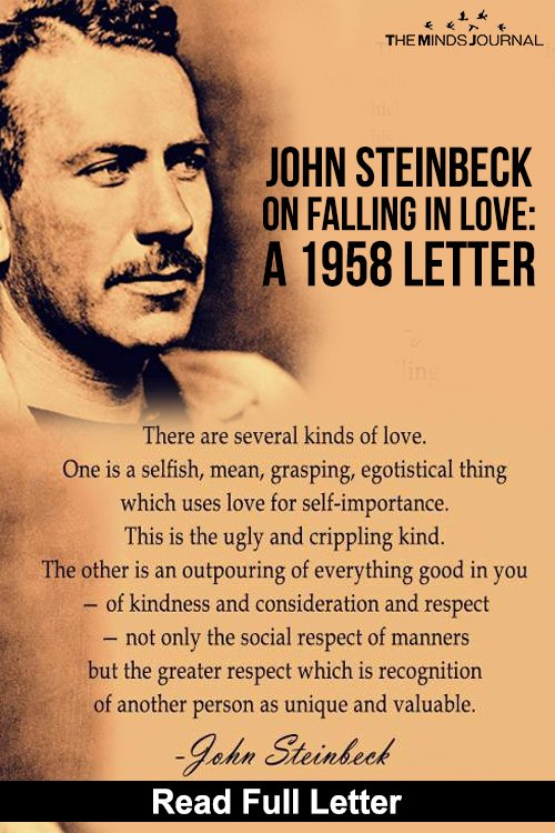 John Steinbeck On Falling In Love A 1958 Letter