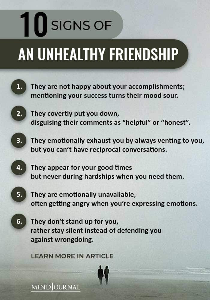 Signs Of Unhealthy Friendship