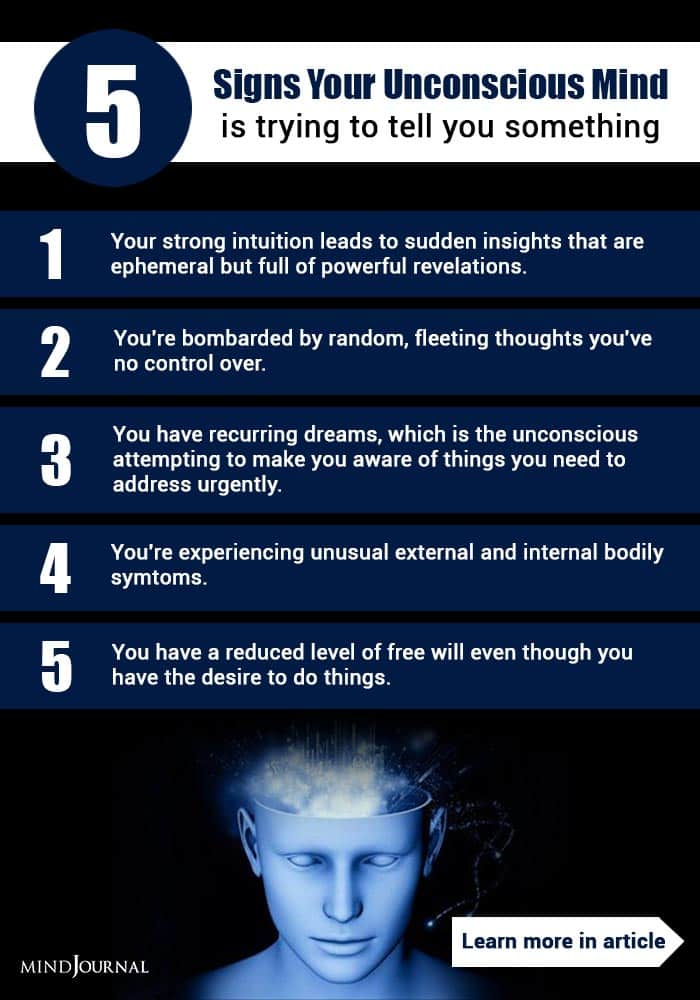 Signs Unconscious Mind Trying Tell You