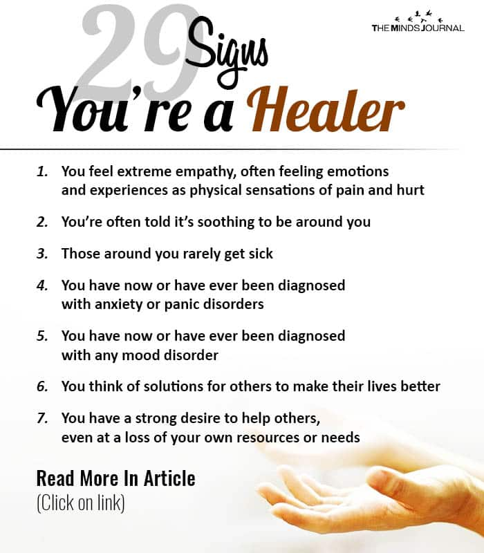 Signs Youre a Healer