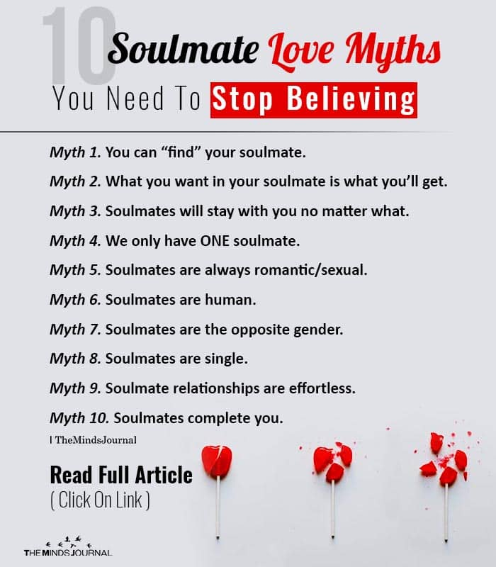 Soulmate Love Myths Need To Stop Believing