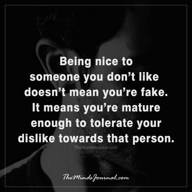 what does being nice mean