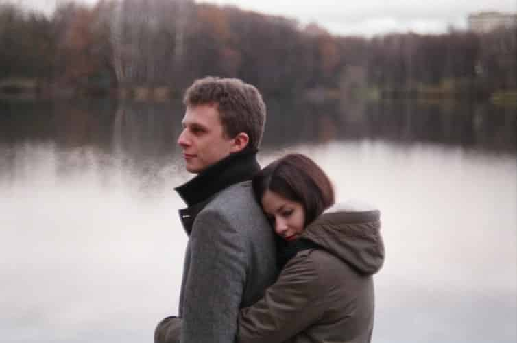 partner's love language is touch hug tight in pain