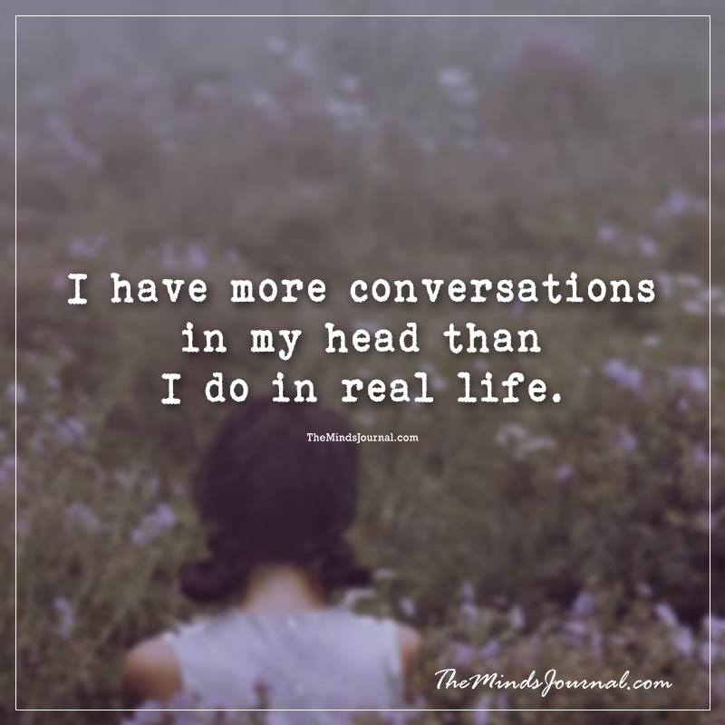I have more conversations